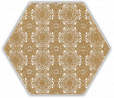 SHINY LINES GOLD HEXAGON INSERTO E 19.8x17.1 декор